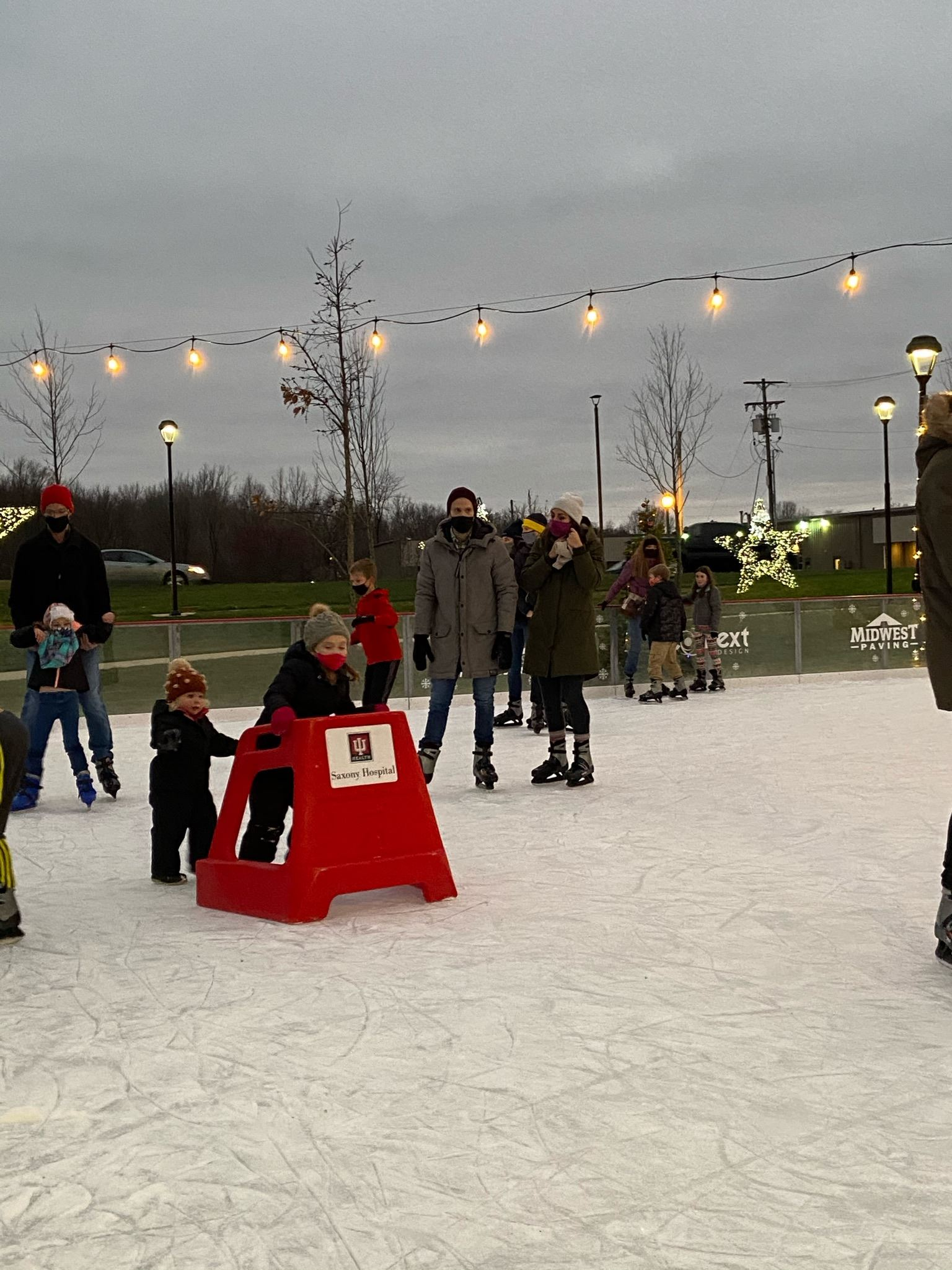 Holidays at the Hill ice skaters